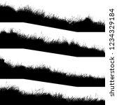 set of horizontal silhouettes... | Shutterstock .eps vector #1234329184