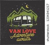 vintage hand drawn camp logo... | Shutterstock . vector #1234341217