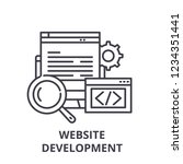 website development line icon...