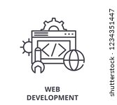 web development line icon...