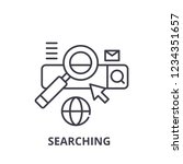 searching line icon concept....