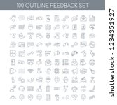 100 feedback universal icons... | Shutterstock .eps vector #1234351927