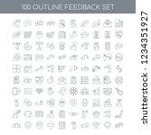 100 feedback universal icons... | Shutterstock .eps vector #1234351927