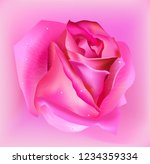 realistic pink rose flower on... | Shutterstock .eps vector #1234359334