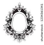baroque vector vintage frame.... | Shutterstock .eps vector #1234361341
