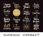 happy new year 2019 lettering.... | Shutterstock .eps vector #1234366177