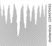 set of snow icicles isolated on ... | Shutterstock .eps vector #1234370431