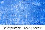 grunge blue wall cement... | Shutterstock . vector #1234372054