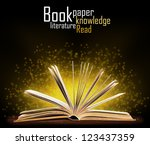 book. opened book with special... | Shutterstock . vector #123437359