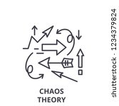 chaos theory line icon concept. ...   Shutterstock .eps vector #1234379824