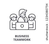 business teamwork line icon... | Shutterstock .eps vector #1234380754
