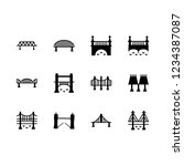 suspension icon set about...   Shutterstock .eps vector #1234387087