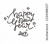 happy new year handwritten... | Shutterstock .eps vector #1234388227