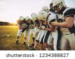 team of young american football ... | Shutterstock . vector #1234388827