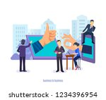 business to business. business... | Shutterstock .eps vector #1234396954