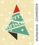 christmas tree. abstract... | Shutterstock .eps vector #1234402024