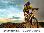 cyclist riding the bike on the... | Shutterstock . vector #1234404541