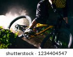 professional dh cyclist riding... | Shutterstock . vector #1234404547
