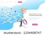 isometric flat vector landing...   Shutterstock .eps vector #1234408747