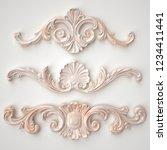 3d rendering beautiful marble... | Shutterstock . vector #1234411441