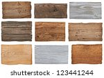 collection of various  empty... | Shutterstock . vector #123441244