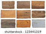 collection of various  empty... | Shutterstock . vector #123441319