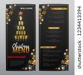 christmas menu design with... | Shutterstock .eps vector #1234413394