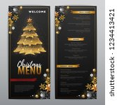 christmas menu design with... | Shutterstock .eps vector #1234413421