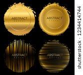 set of dynamic golden grunge... | Shutterstock .eps vector #1234414744