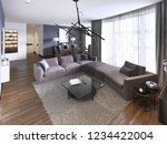 chic living room filled with... | Shutterstock . vector #1234422004
