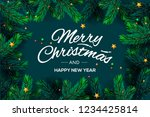 merry christmas and happy new... | Shutterstock .eps vector #1234425814