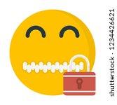zipper mouth emoji | Shutterstock .eps vector #1234426621