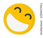 laughing joyful emoji | Shutterstock .eps vector #1234427011