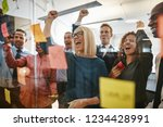 diverse group of businesspeople ... | Shutterstock . vector #1234428991