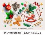christmas elements  vector... | Shutterstock .eps vector #1234431121