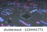 futuristic electronic pcb... | Shutterstock . vector #1234441771