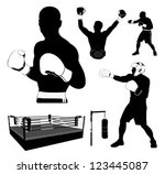 box and boxing | Shutterstock .eps vector #123445087