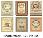 vintage retro design label.... | Shutterstock .eps vector #123445255