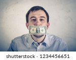 man businessman in with a... | Shutterstock . vector #1234456651