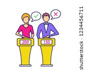 quiz show color icon. players... | Shutterstock .eps vector #1234456711