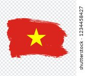 flag vietnam  brush stroke...