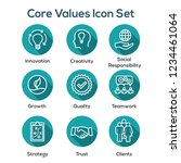 core values outline or line... | Shutterstock .eps vector #1234461064