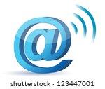att sign wifi illustration... | Shutterstock . vector #123447001