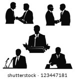 business men.political speaker... | Shutterstock .eps vector #123447181