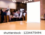 white restaurant menu  | Shutterstock . vector #1234475494