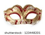 carnival mask isolated on... | Shutterstock . vector #123448201