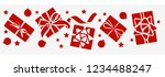 new year decorative gift box ... | Shutterstock .eps vector #1234488247