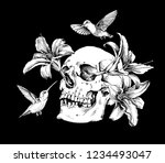 human skulls with a exotic... | Shutterstock .eps vector #1234493047
