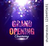 grand opening sparkling poster... | Shutterstock .eps vector #1234495651