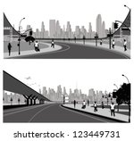 vector illustration.highway ... | Shutterstock .eps vector #123449731